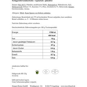 Travellunch Main Course 6 Mahlzeiten (Glutenfrei) 6 x 125g